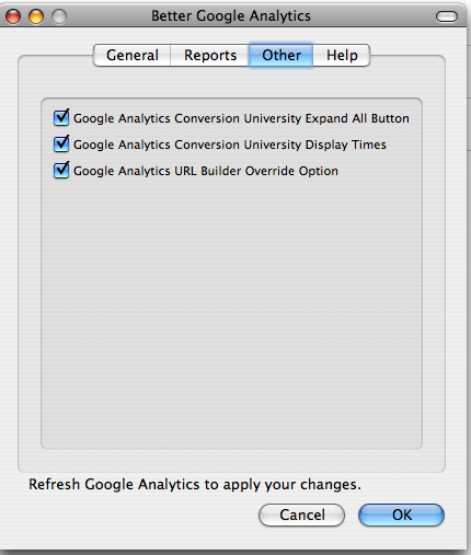 better google analytics other