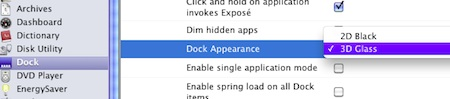 Secrets change dock appearance