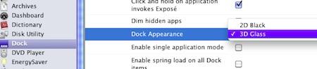 Secrets change dock appearance