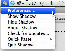 shadow open preferences