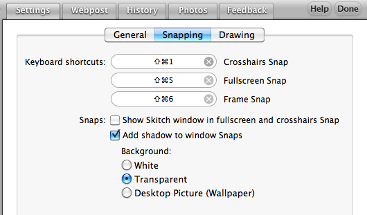 Skitch - Settings - Snapping