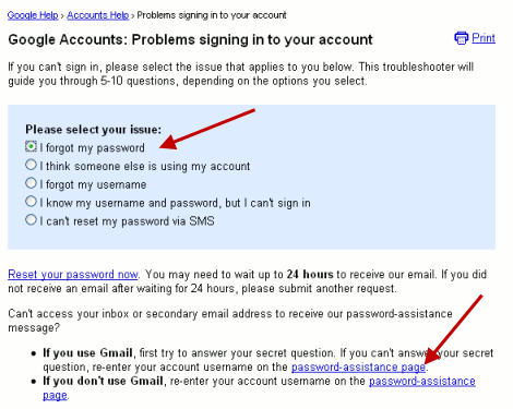 How To recover Google account Password Via SMS Message