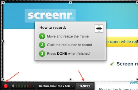 Screenr - Capture video