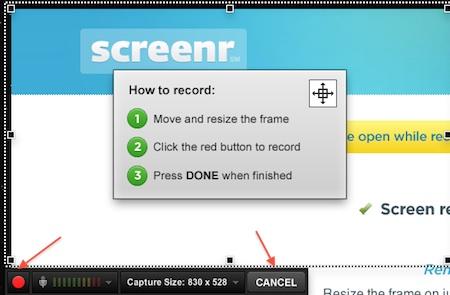 Screenr - Capture video