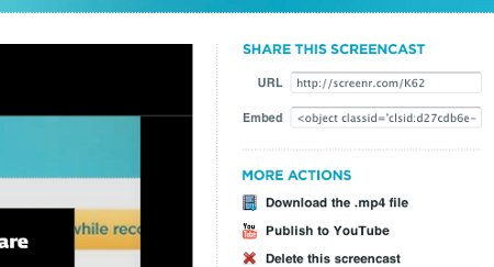 Screenr - Share Screencast