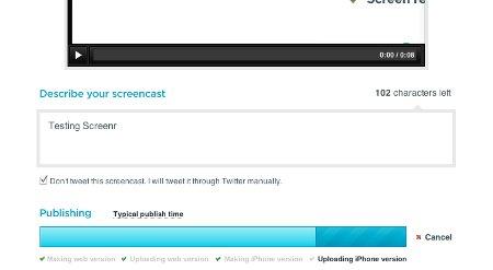 Screenr - Upload screencast