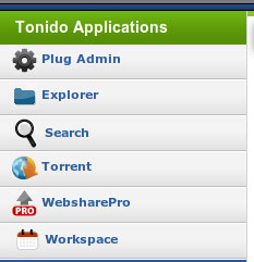 tonidoplug-application