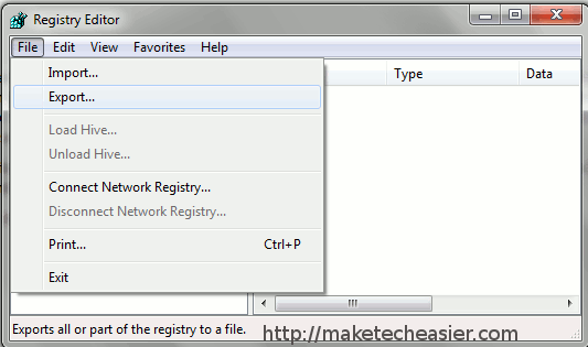 backup-registry-export