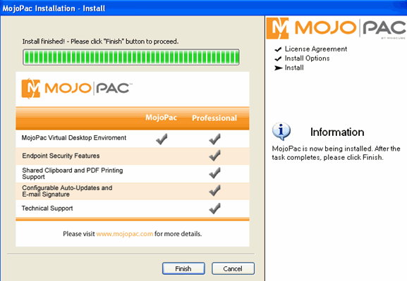 mojopack-install-complete