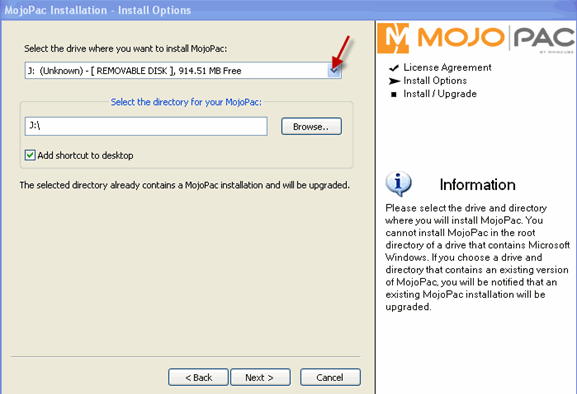 mojopack-install-location-select