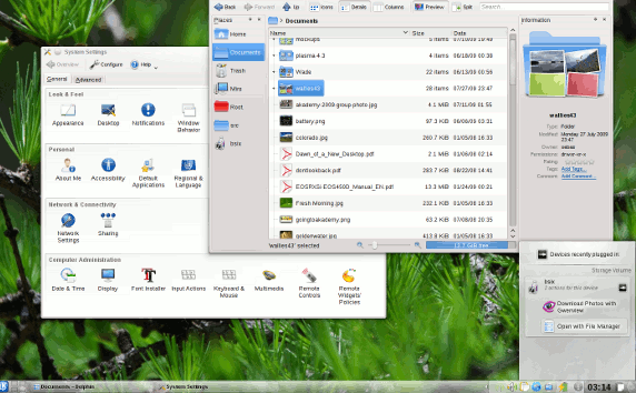 KDE 4.4 dolphin and system settings
