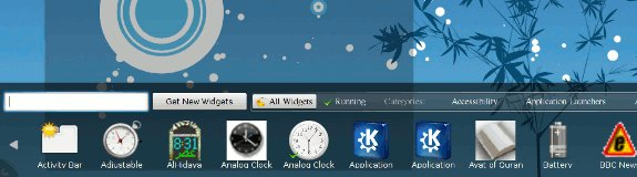 KDE 4.4 add widgets dialog