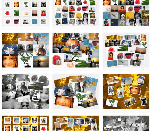 create a photo collage for print or wallpaper using photovisi make