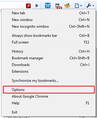 how to find options on google chrome