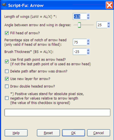 gimpplugin-arrow