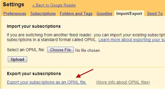 google-reader-export-opml-for-feed-subscriptions