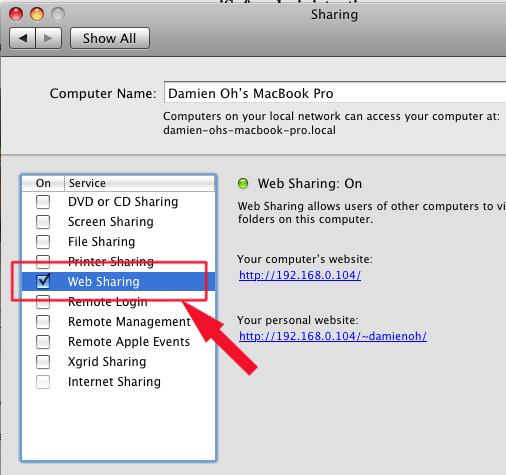 isofa-web-sharing