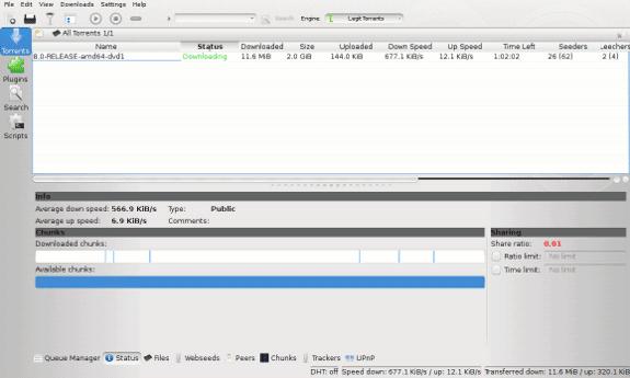 ktorrent, downloading freebsd