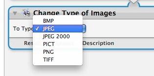 Automator - Change type of image