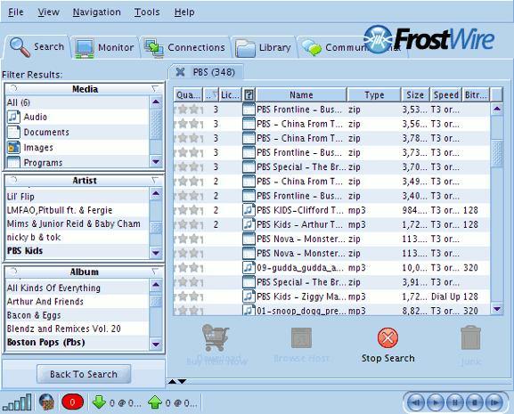 frostwire-search