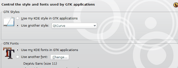 QtCurve GTK settings