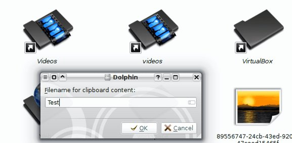 Clipboard file creation