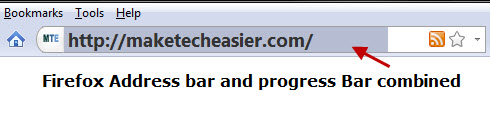 Combine Firefox address bar and progress bar