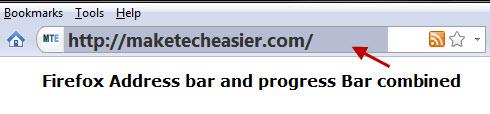 Combine Firefox address bar and progress bar