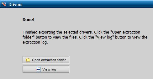 Driver export complete