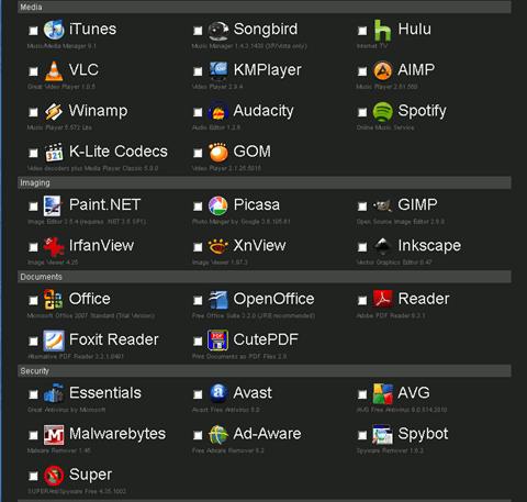 ninite - apps view