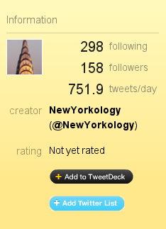twitter list - add to tweetdeck