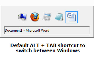 Default Alt Tab shortcut for Switching program windows
