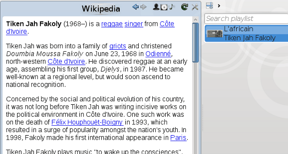 Amarok Wikipedia article
