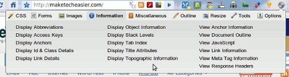 chrome-web-developer-toolbar