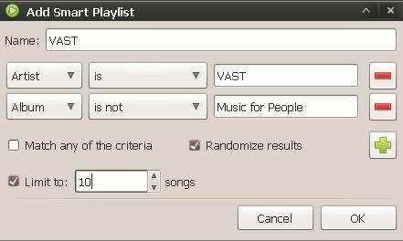 exaile-smartplaylists