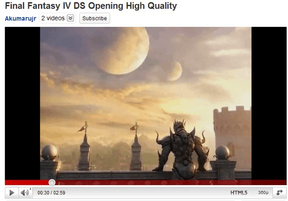 YouTube video in Internet Explorer with Chrome Frame