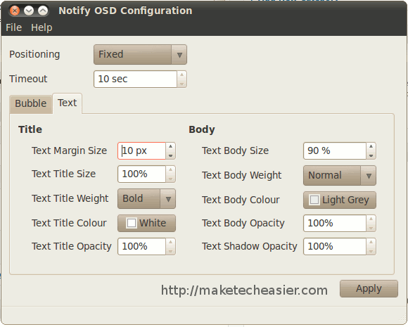 notifyosd-text-tab