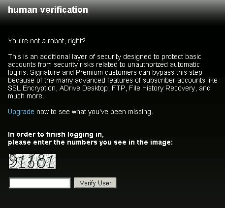 online-storage-adrive-human-check
