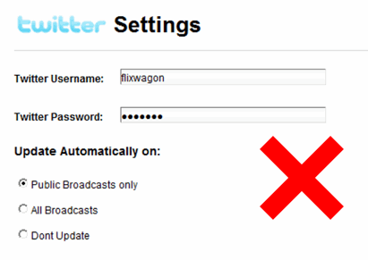 Never Share Twitter password with Web based Twitter apps