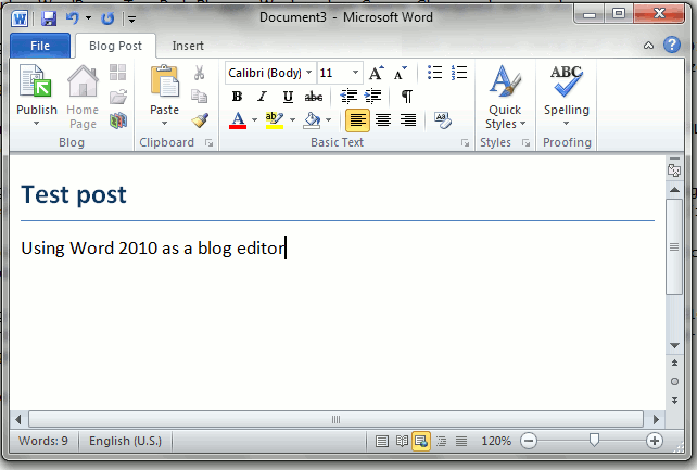 word2010-blog-editor