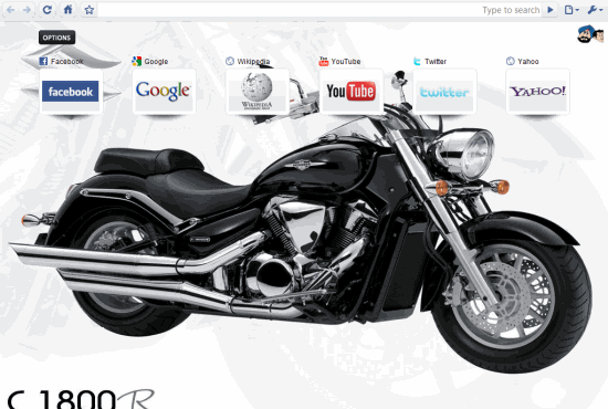 An Example of a Chrome New tab page