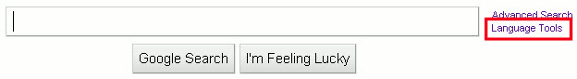 google-change-language