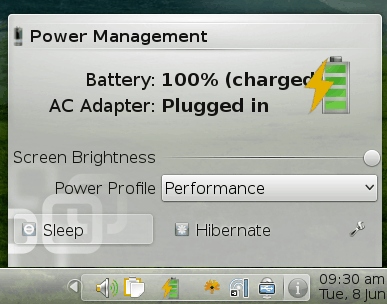 Plasma battery monitor widget