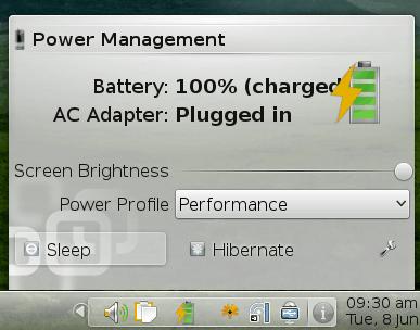 Plasma battery monitor widget