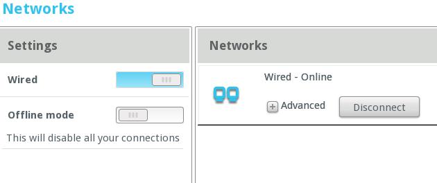 MeeGo network settings