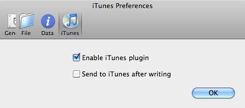 metax iTunes Preferences