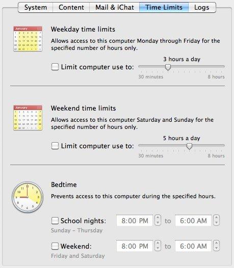 Parental Controls - Time Limit