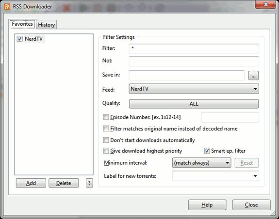utorrent - advanced
