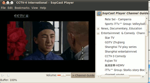 sopcast-player in action