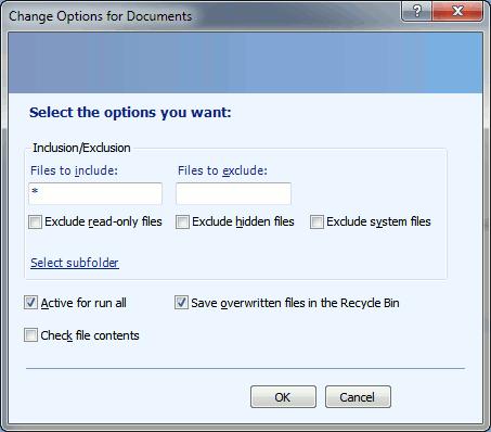 synctoy - options